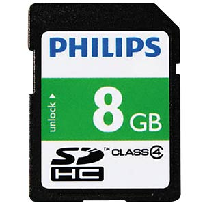 SDHC-Card 8GB Philips Class 4 PHILIPS FM08SD35B/10