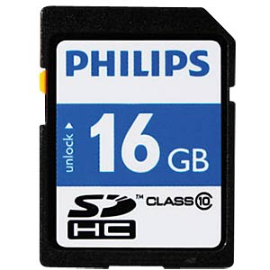 SDHC card, 16 GB, Philips class 10 PHILIPS FM16SD45B/10