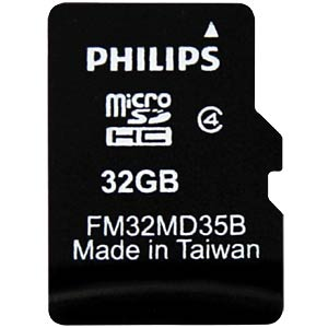 MicroSDHC-Card 32GB, Philips Class 4 PHILIPS FM32MD35B/10