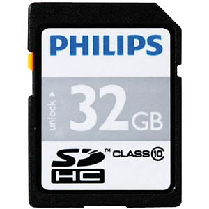 SDHC card, 32 GB, Philips class 10 PHILIPS FM32SD45B/10