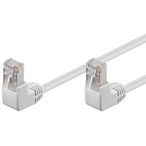 2-m cat. 5e patch cable, 2x 90° plug, white FREI