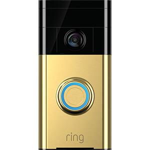 ring 8vr1s5 peu0 wlan video t rklingel polished brass bei. Black Bedroom Furniture Sets. Home Design Ideas