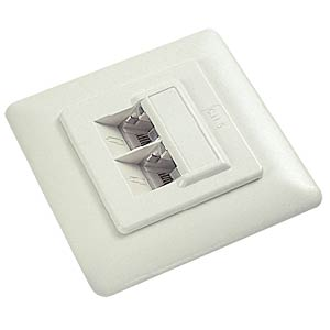 2-way RJ45 junction box, cat. 5e, flush-mounted FREI