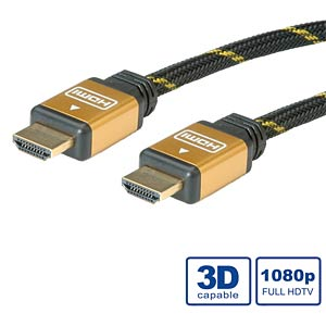 High Speed HDMI Kabel mit Ethernet, 1 m ROLINE 11.88.5501
