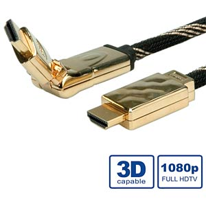 ROLINE GOLD HDMI cable + Ethernet, rotating, 2 m ROLINE 11.88.5507