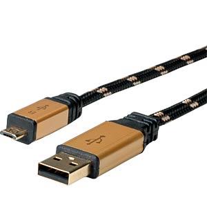 ROLINE GOLD USB2.0 Kb A-MicroB,ST/ST 0,8 ROLINE 11.88.8825