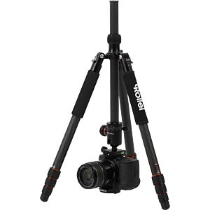 Carbon Tripod, black incl. Camera Strap Flex ROLLEI 22611