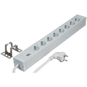 48.3-cm (19) socket outlet 2 U, grey FREI