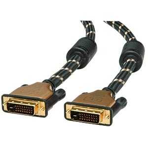 ROLINE GOLD DVI cable, plug/plug, dual link, 3 m ROLINE 11.88.5513