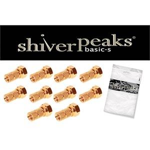 SHVP 85006-10AG - F-Stecker; 6,0 vergoldet