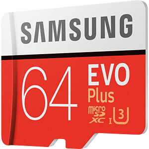 EVO Plus microSD Kaart 64 GB, incl. adapter SAMSUNG MB-MC64GA/EU