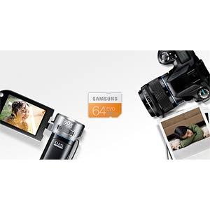 SDXC card, 64GB — Samsung — Class 10 SAMSUNG MB-SP64D/EU