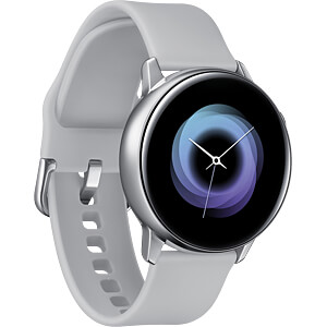 Smartwatch, Samsung Galaxy Watch Active silber SAMSUNG SM-R500NZSADBT