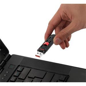 USB-Stick, USB 2.0, 32 GB, Cruzer Glide SANDISK SDCZ60-032G-B35