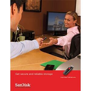 USB-Stick, USB 2.0, 128 GB, Cruzer Glide SANDISK SDCZ60-128G-B35