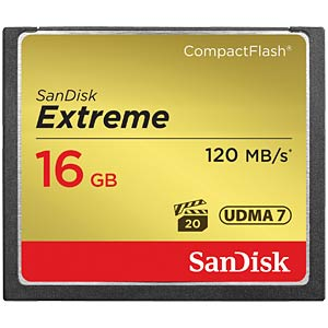 SanDisk Extreme 120 MB/s 16 GB CF card SANDISK SDCFXS-016G-X46