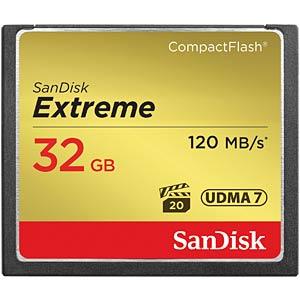 CF-Card 32GB, SanDisk Extreme 120MB/s SANDISK SDCFXSB-032G-G46