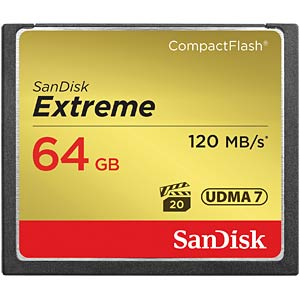 CF-Card 64GB, SanDisk Extreme 120MB/s SANDISK SDCFXSB-064G-G46