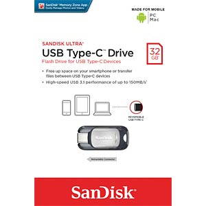 USB3.1-Stick 32GB SanDisk Dual USB Typ C SANDISK SDCZ450-032G-G46