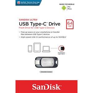 USB-Stick, USB 3.1, 64 GB, Dual USB Typ C SANDISK SDCZ450-064G-G46