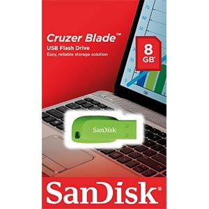 USB 2.0-stick 64GB SanDisk Cruzer Blade groen SANDISK SDCZ50C-064G-B35GE