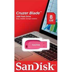 USB-Stick, USB 2.0, 16 GB, Cruzer Blade Pink SANDISK SDCZ50C-016G-B35PE