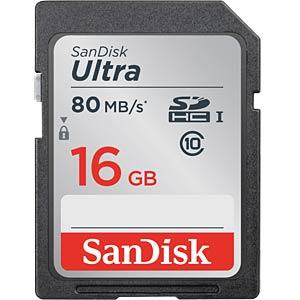 SDHC-Speicherkarte 16GB - SanDisk Ultra - Class 10 SANDISK SDSDUNC-016G-GN6IN
