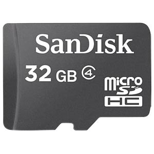 MicroSDHC-Speicherkarte 32GB - SanDisk mit Adapter SANDISK SDSDQM-032G-B35A