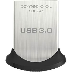 USB-Stick, USB 3.0, 128 GB, Ultra Fit SANDISK SDCZ43-128G-GAM46