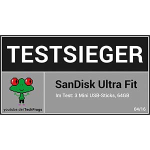 USB-Stick, USB 3.0, 64 GB, Ultra Fit SANDISK SDCZ43-064G-GAM46