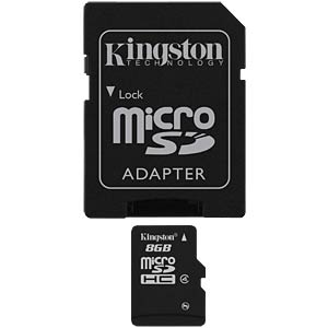 MicroSDHC-Speicherkarte 8GB, Kingston Class 4 KINGSTON SDC4/8GB