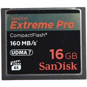 CF-Card 16GB, SanDisk Extreme Pro 160MB/s SANDISK SDCFXPS-016G-X46