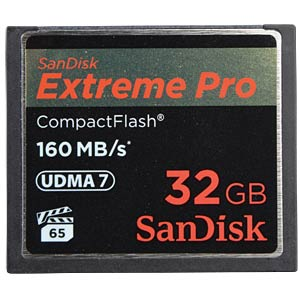 CF-Card 32GB, SanDisk Extreme Pro 160MB/s SANDISK SDCFXPS-032G-X46
