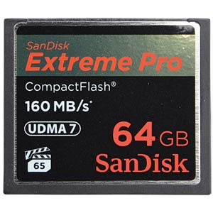 CF-Card 64GB, SanDisk Extreme Pro 160MB/s SANDISK SDCFXPS-064G-X46