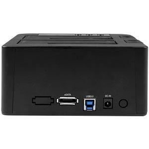 Docking- und Kopierstation 2.5/3.5 SATA HDD/SSD, USB 3.0/eSATA STARTECH.COM SDOCK2U33RE