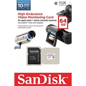 MicroSDXC-Speicherkarte 64GB - SanDisk SANDISK SDSDQQ-064G-G46A