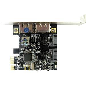 PCIe RAID controller - 2x internal SATA+ 2x eSATA SEMPRE RS22PE-1