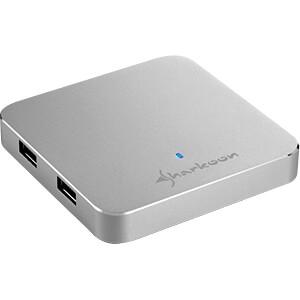 USB 3.0 HUB 4-port, Slim, Aluminium SHARKOON 4044951017607