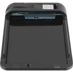 externes 2,5 SATA HDD Gehäuse, USB 2.0, schwarz SHARKOON 4044951009220