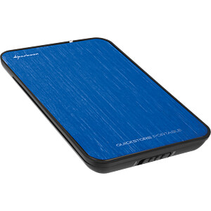 externes 2,5 SATA HDD Gehäuse, USB 2.0, blau SHARKOON 4044951009923
