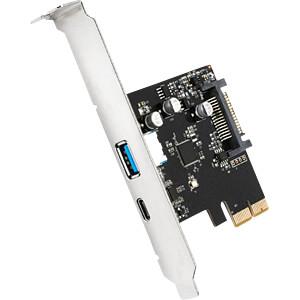 USB-Controller 3.1 A + C, 2-Port, PCI-Express SHARKOON 4044951017706