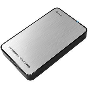"""2.5"""" enclosure, SATA HDD > USB 3.0, silver SHARKOON 4044951011483"""