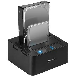 Dual Dockingstation 2.5/ 3.5 SATA HDD, 1x USB 3.0 SHARKOON 4044951010066