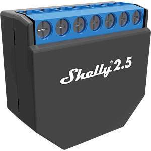 Shelly 2.5 Wi-Fi WLAN Schaltaktor 2x 10 A SHELLY SHELLY 2.5