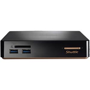 Shuttle 0,6 L Slim-PC Barebone mit Celeron CPU SHUTTLE NC01U