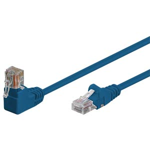 Patchkabel, gewinkelt-gerade, blau, 0,5m SHIVERPEAKS BS08-64011