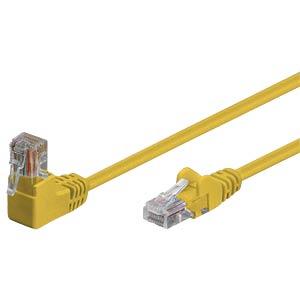 Patchkabel, gewinkelt-gerade, gelb, 20m SHIVERPEAKS BS08-64092