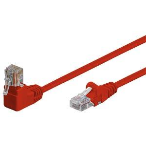 Patchkabel, gewinkelt-gerade, rot, 1m SHIVERPEAKS BS08-64024