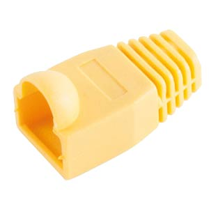 Knickschutztülle für RJ 45, gelb, 10 Stk. SHIVERPEAKS BS72055-Y-10