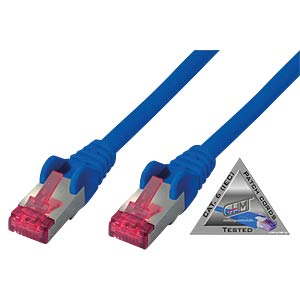 Patchkabel Cat.6A blau 7,5m SHIVERPEAKS BS75717-AB